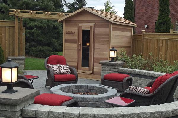 Outdoor cedar saunas for Dundalk leisure craft outdoor cabin sauna